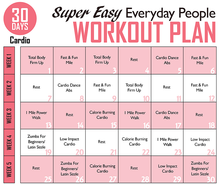 Legos Leftovers Super Easy Every Day People Workout Plan Cardio