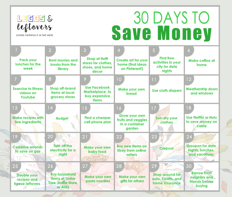 Legos & Leftovers - 30 Days To Save Money - Legos & Leftovers